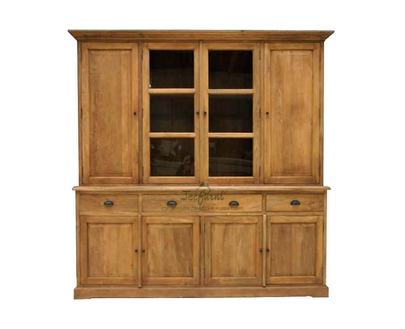 Solid Teak Wood Bookcase Cabinet Indonesia Furniture Jepara