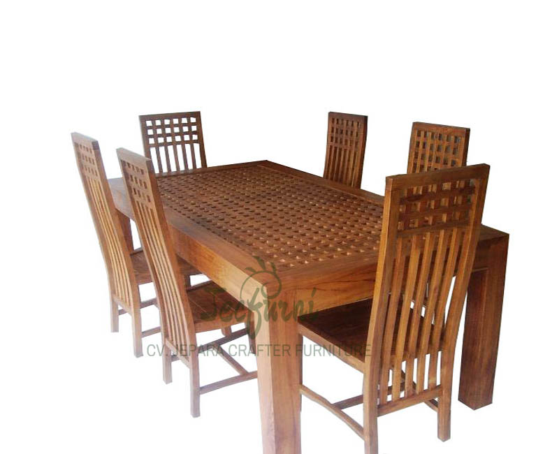 Teak Wood Dining Table With Chairs Indonesia Manufacturers