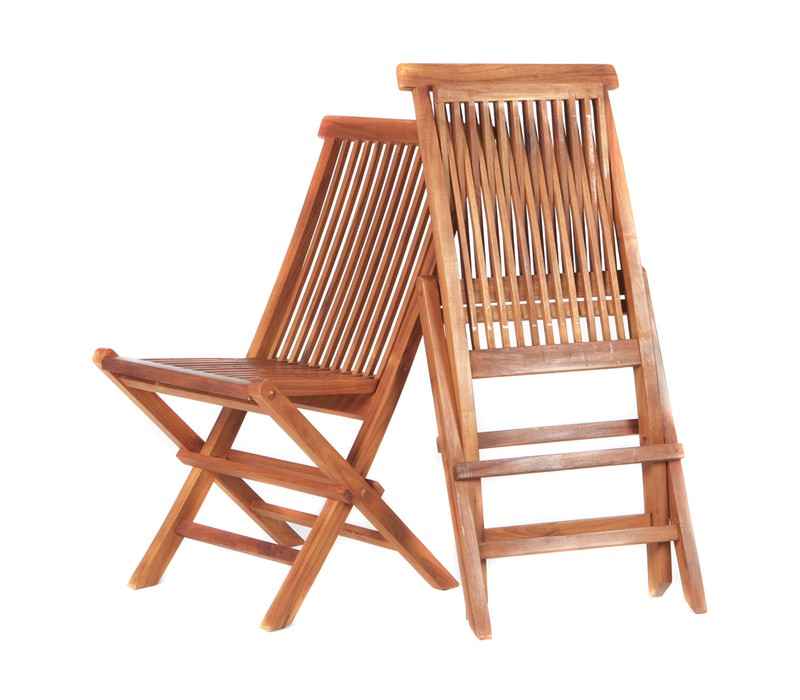 jepara teak folding chairs