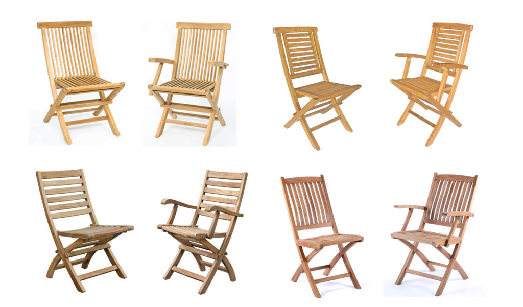 teak garden folding chairs